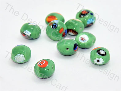 Green Apple Italian Chip Beads