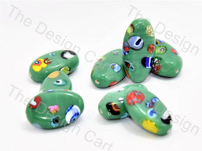 Green Boat Italian Chip Beads