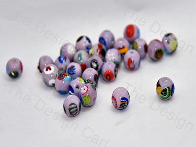 Lavender / Light Purple Small Spherical Italian Chip Beads