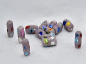 Lavender / Light Purple Tube Italian Chip Beads