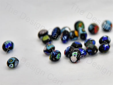 Black Apple Italian Chip Beads