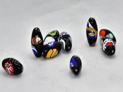 Black Boat Italian Chip Beads