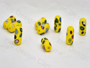 Yellow Tube Italian Chip Beads