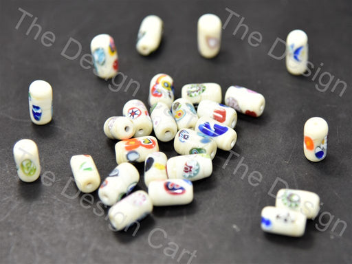 Cream / Off White Drum Italian Chip Beads