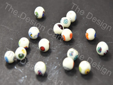 Cream / Off White Small Spherical Italian Chip Beads