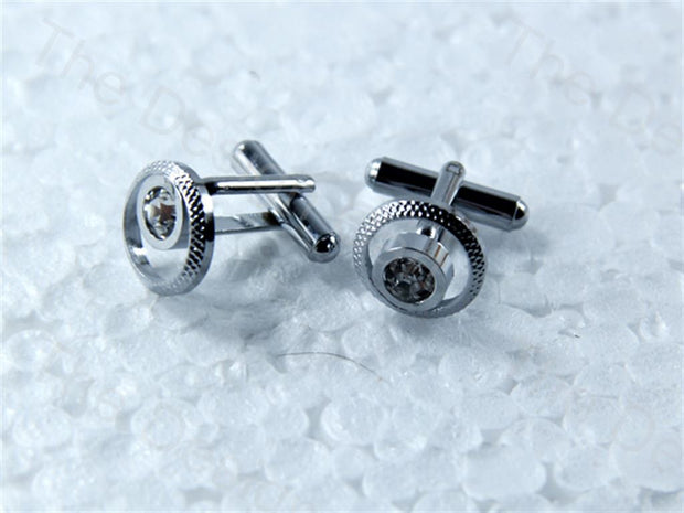 Round Eye Design Silver Metallic Cufflinks (1364876918818)