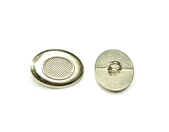 Silver Oval Designer Metal Buttons
