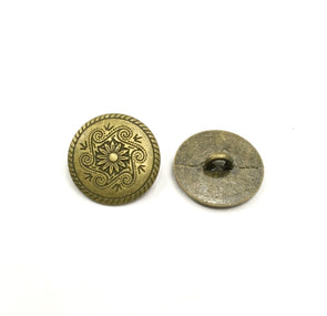Antique Golden Motif Metal Buttons