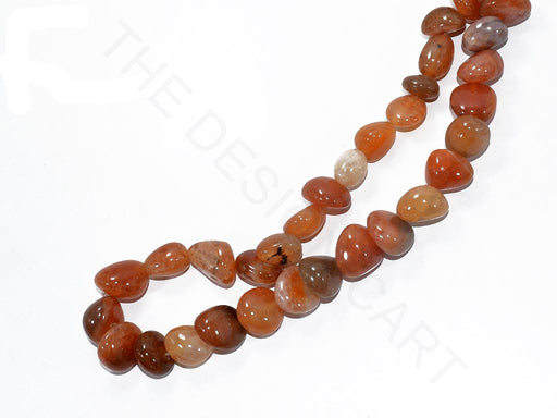 Orange Round Pebble Semi Precious Quartz Stones