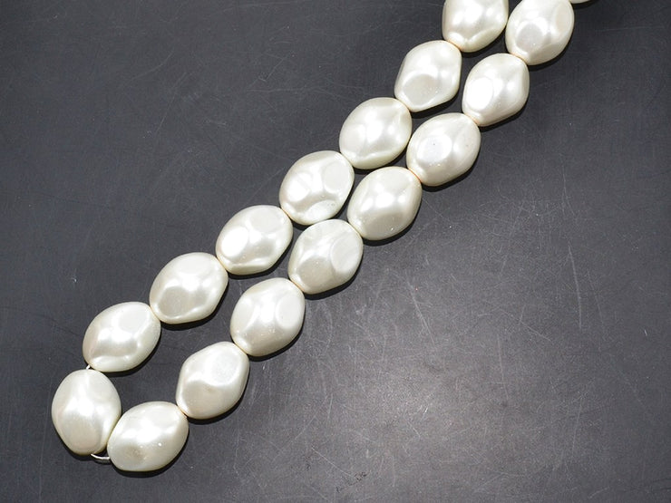 White Pressed Shell Pearls | The Design Cart (3785194274850)