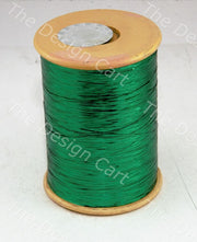 Green Flat Badla (Metallic Yarn) - The Design Cart (12577441363)