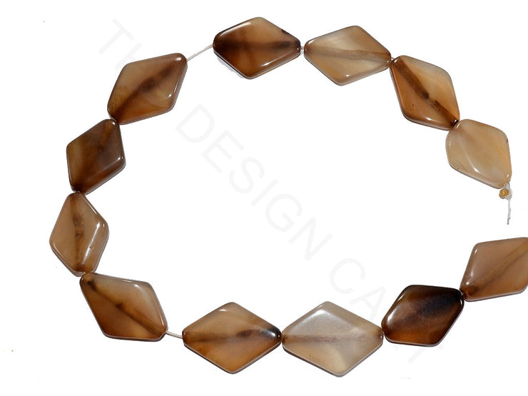 Light Brown Diamond Agate Stones | The Design Cart (3785170518050)