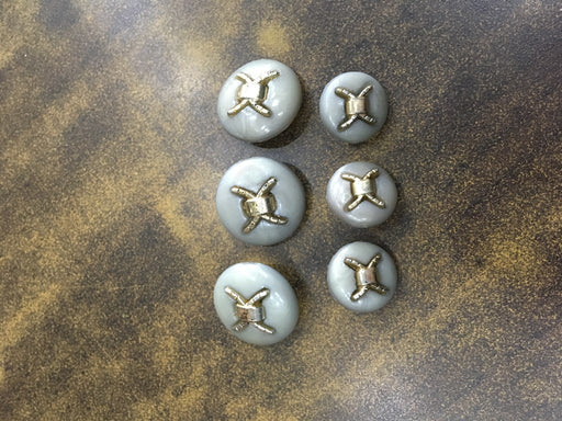 Silver Gold Designer Acrylic Coat Buttons