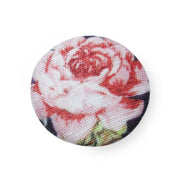 Fabric and Lace Well Finished Digital Printed Work With Beautiful Floral Design Buttons