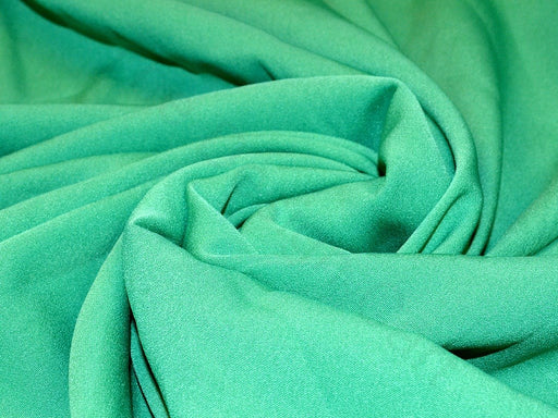 Green Poly Crepe Fabric