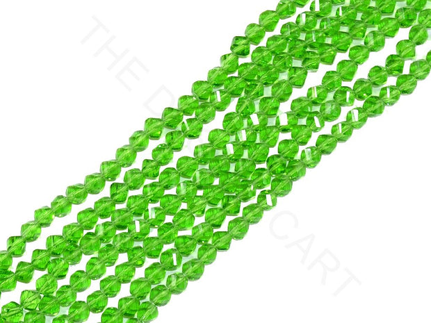 Green Irregular Hexagonal / S-Cut Crystal Beads | The Design Cart