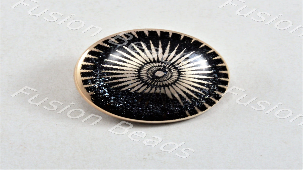 Black Sun Metallic Finish Acrylic Button