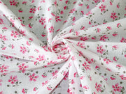 White Pink Floral Pure Cotton Fabric | The Design Cart (3822184824866)