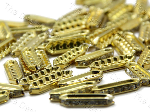 Golden 5-Hole Spacer Beads