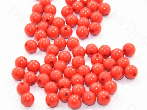Red Spherical Acrylic Beads