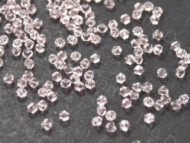 Baby Pink Bicone Crystal Beads