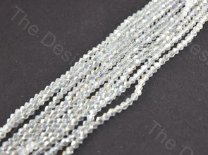 White Transparent Rainbow Bicone Crystal Beads