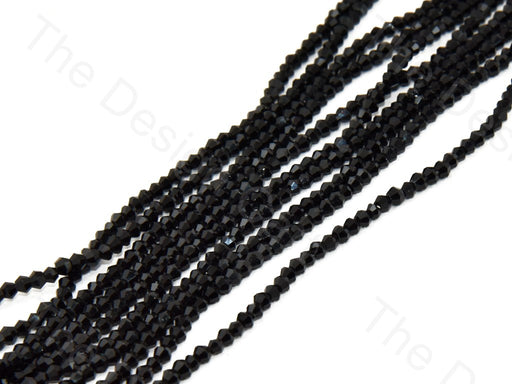 Black Opaque Bicone Crystal Beads