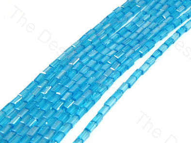 Aqua Blue Rectangle Crystal Beads
