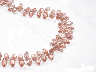 Baby Pink Transparent Top Hole Drop Crystal Beads