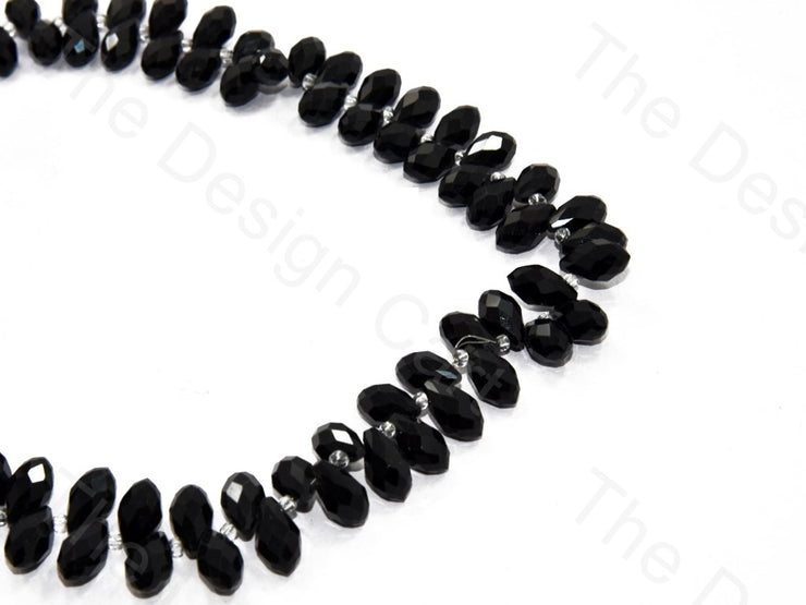 Black Transparent Small Top Hole Drop Crystal Beads | The Design Cart (552974450722)