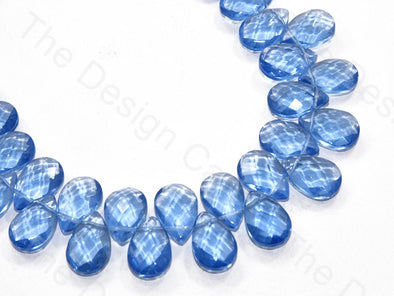 Sapphire Blue Top Hole Drop Crystal Beads