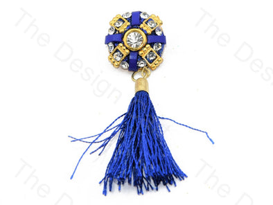 Blue Golden Tassel Buttons