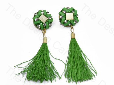 Green Tassel Buttons