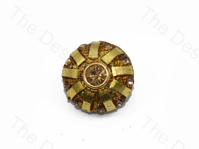 Golden Flower Stone Handcrafted Buttons