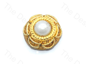 Centric Pearl Golden Handcrafted Buttons
