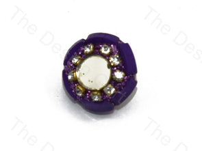 Purple Glass Handcrafted Buttons