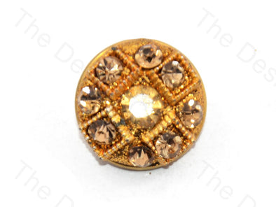 Stones With Square Golden Handcrafted Button