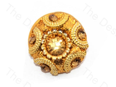 Stones With Circle Golden Handcrafted Button