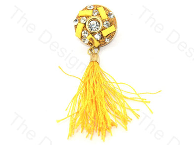 Yellow Stone Tassel Buttons