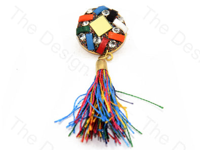 Multicolour Glass Tassel Buttons