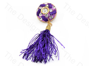 Purple Stone Tassel Buttons