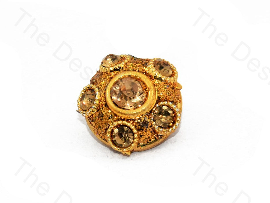 6 Stones Golden Handcrafted Buttons