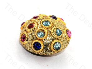 Multicolour Stone Golden Handcrafted Buttons