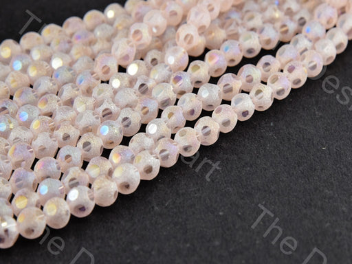Light Pink Rainbow Shimmer Designer Crystal Beads