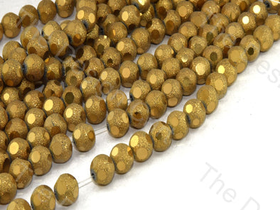 Golden Shimmer Designer Crystal Beads