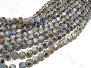 Gray Rainbow Shimmer Designer Crystal Beads