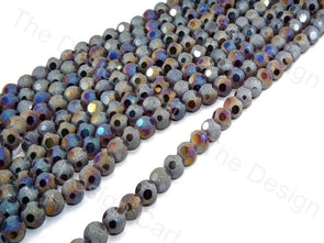 Black Rainbow Shimmer Designer Crystal Beads