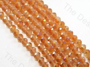 Spherical Football Cut Orange Rainbow Designer beads