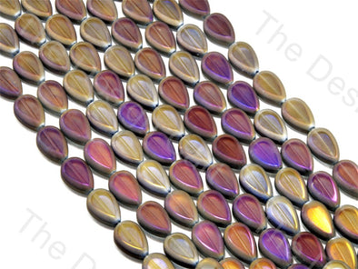 Drop Purple Transparent Rainbow Designer beads