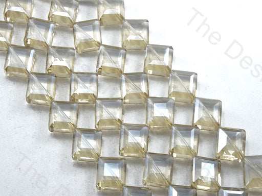 Square Golden Transparent Lustre Designer beads